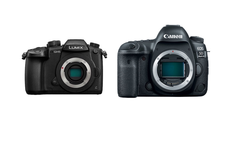 Comparison of the Panasonic GH5 vs Canon 5D Mark IV Cameras