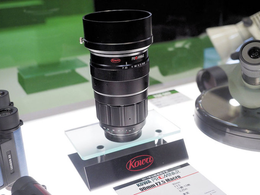 Kowa Prominar 90mm f/2.5 MFT lens displayed at the CP  2017