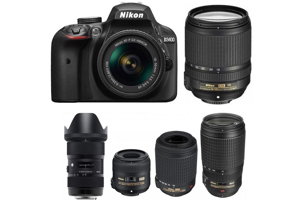 Best Lenses for Nikon D3400 DSLR camera