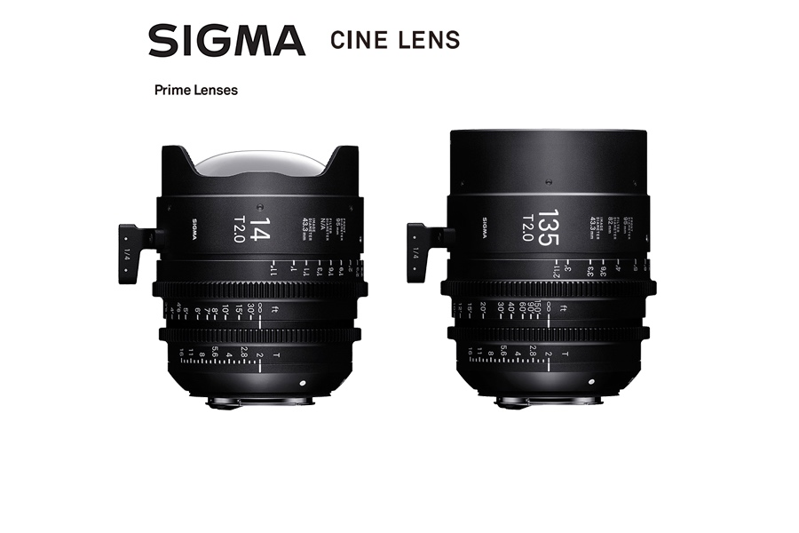Sigma Unveils 14mm T2 and 135mm T2 Cine Prime lenses