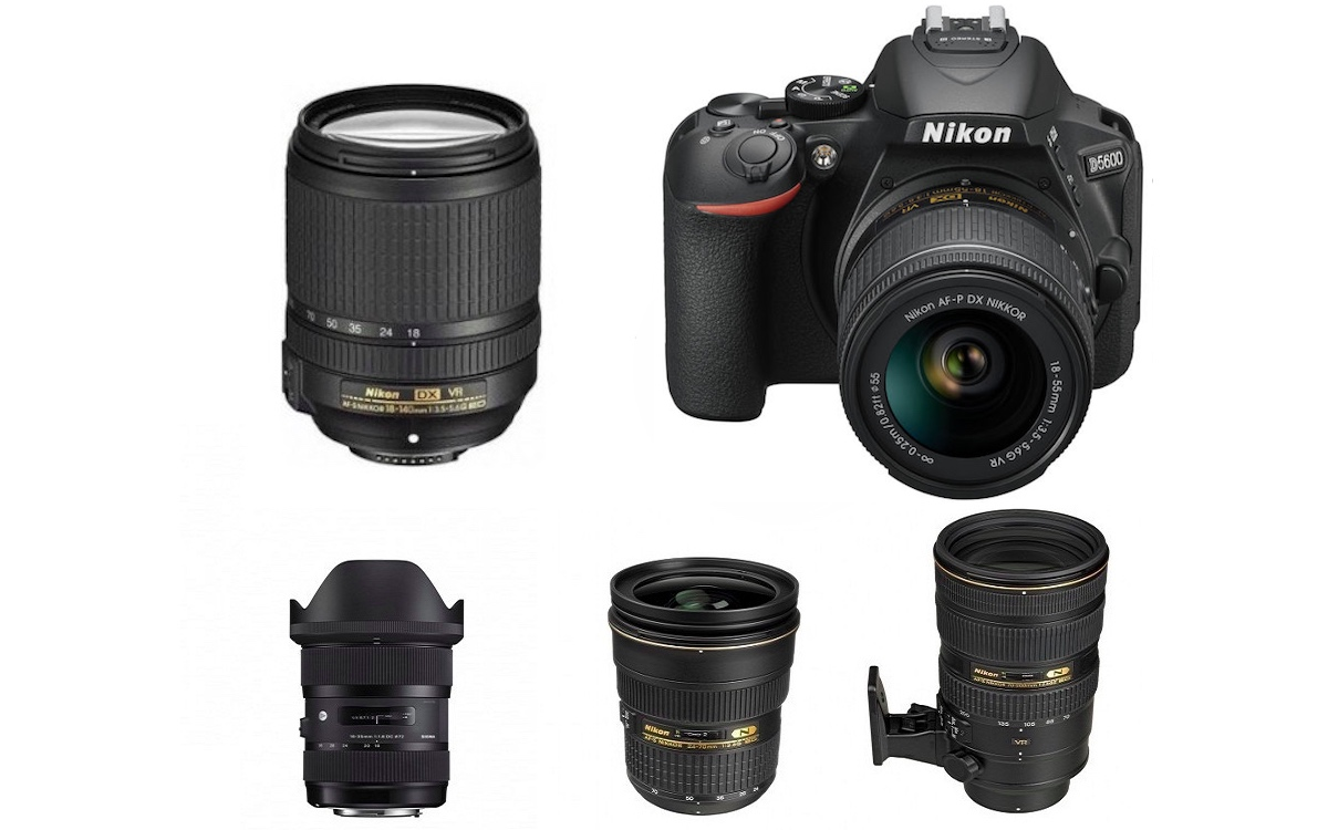 Best Lenses for Nikon D5600 DSLR camera
