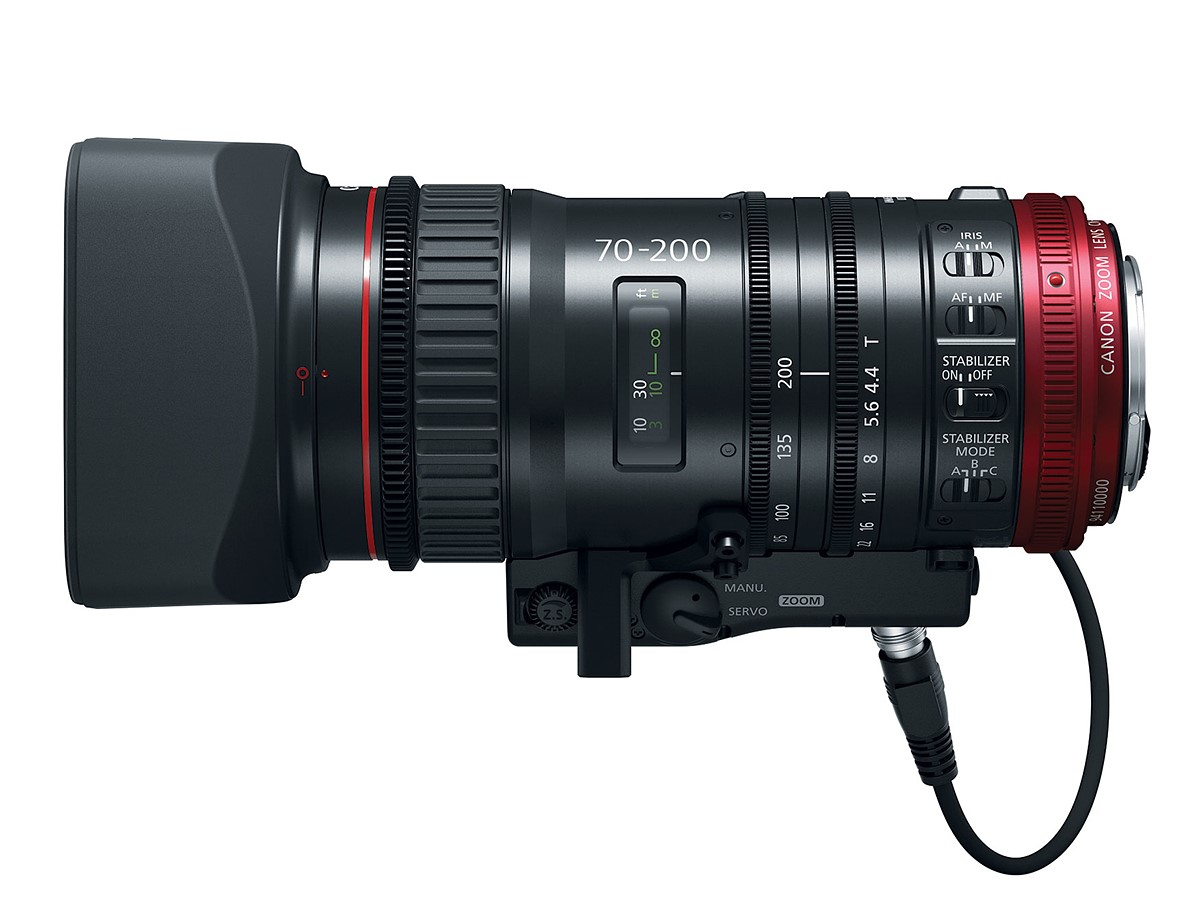 Canon Announces the Compact-Servo 70-200mm T4.4 lens