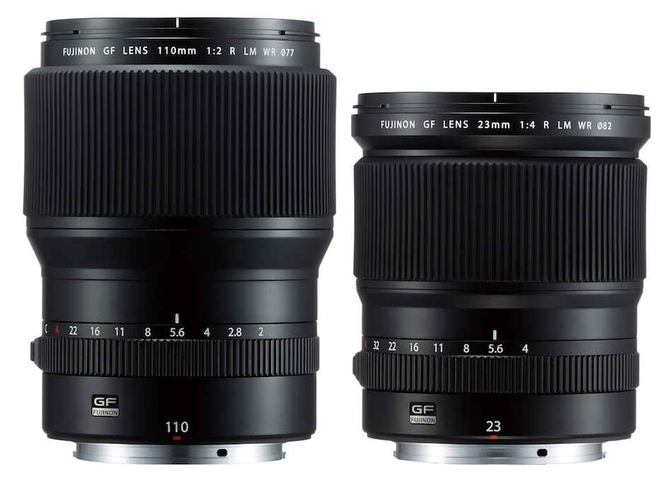 Fuji Releases GF 110mm f/2 R LM WR and GF 23mm f/4 R LM WR Lenses
