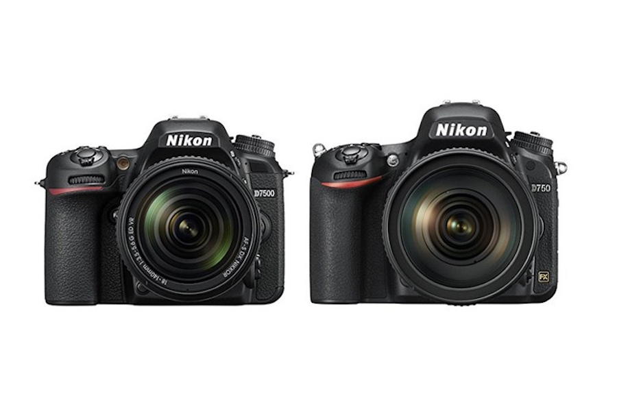 Differences between Nikon D7500 vs D750 DSLR Cameras