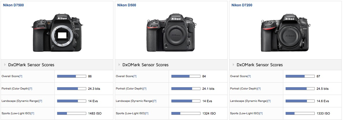 nikon d7500 sensor test results