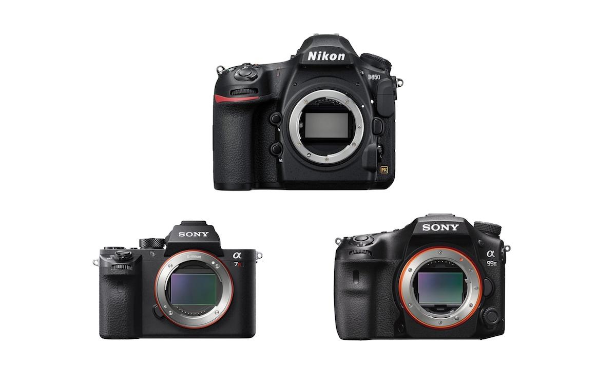 Nikon D850 vs Sony A7R II vs Sony A99 II - Comparison