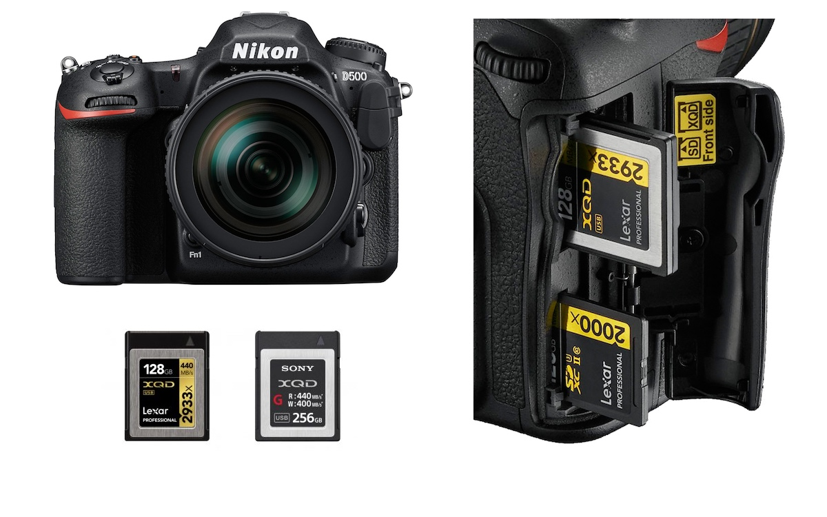 Best XQD & UHS-II SD Memory Cards for Nikon D500