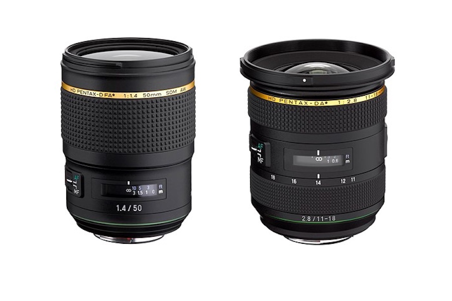 HD-Pentax-D FA* 50mm F1.4 SDM AW and HD-Pentax-DA* 11-18mm F2.8 Announced