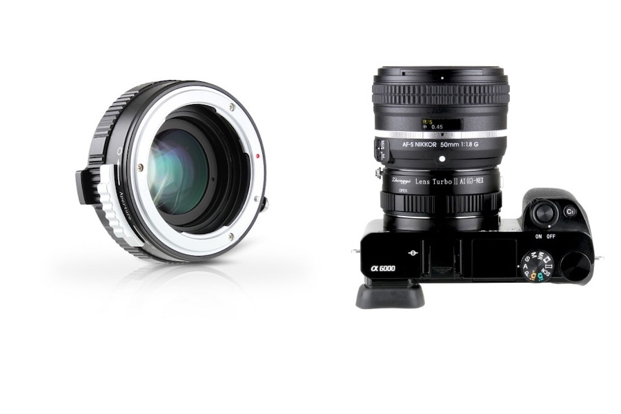 Mitakon announces the new Nikon F Ai and G to Sony E Lens Turbo II adapter