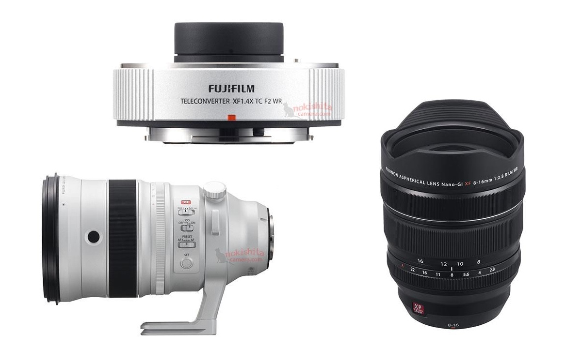 XF 200mm f/2 R LM OIS WR, XF 8-16mm f/2.8 R LM WR, 1.4x Teleconverter Specs & Images