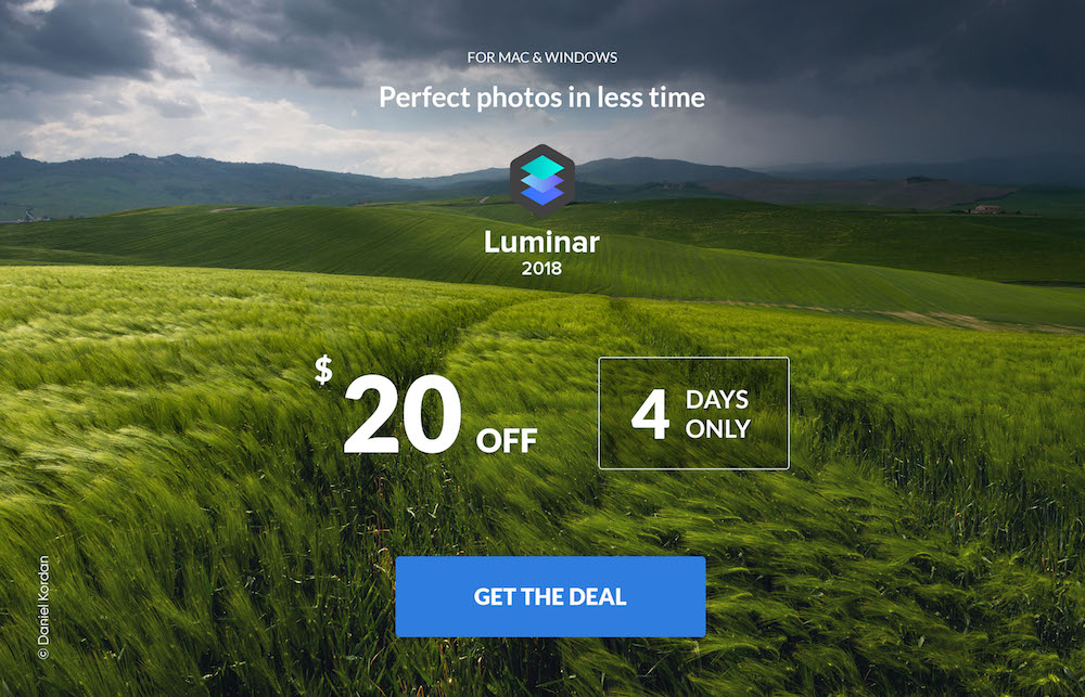 Luminar 2018 Flash Sale, The Lowest Price Ever - $49