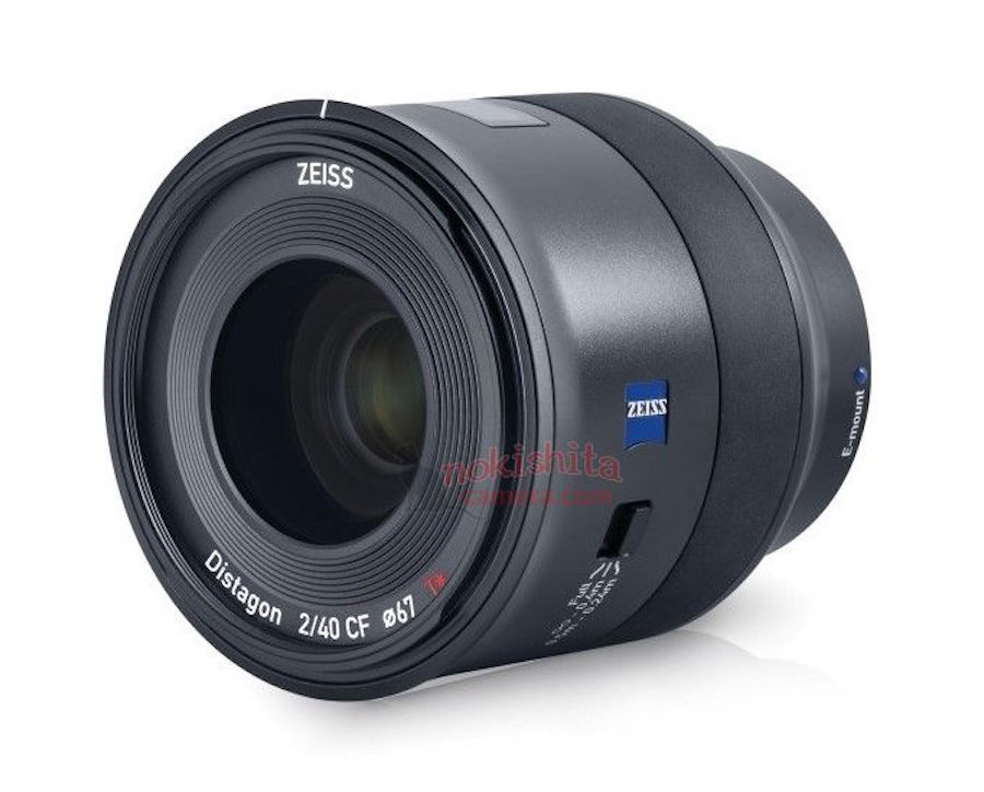 Zeiss Batis 40mm f/2 CF FE Lens Images Leaked