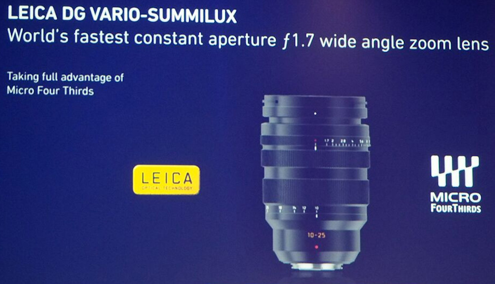Panasonic 10-25mm F1.7 lens for Micro Four Thirds