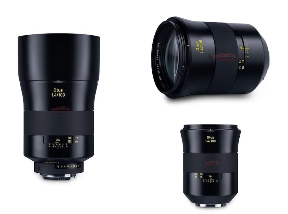 Zeiss Otus 100mm f/1.4 Lens Specs and Images Leaked
