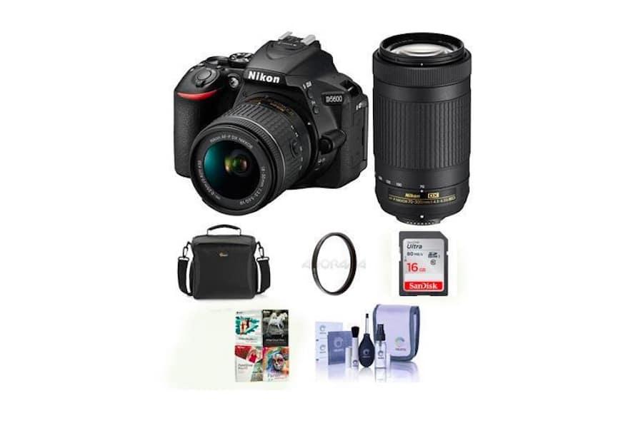 Deal : Nikon D5600 w/ 18-55 & 70-300 Lens Bundle for $796.95
