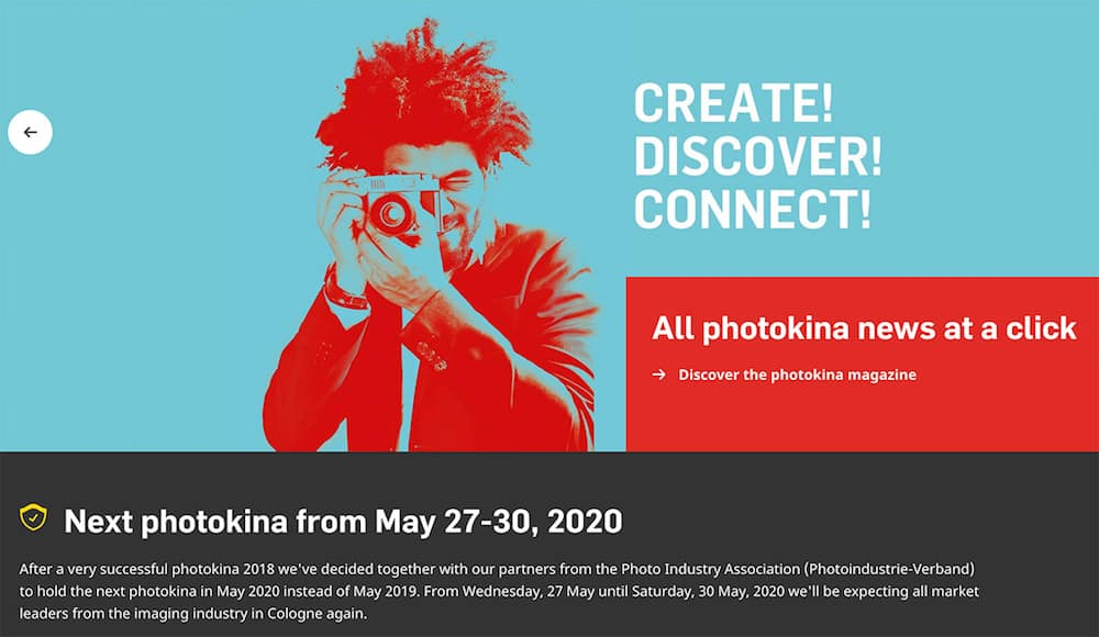 Photokina 2019 Cancelled: Coming Back in May 2020
