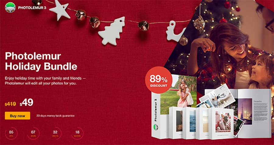 Save 89% with the Photolemur Holiday Offer