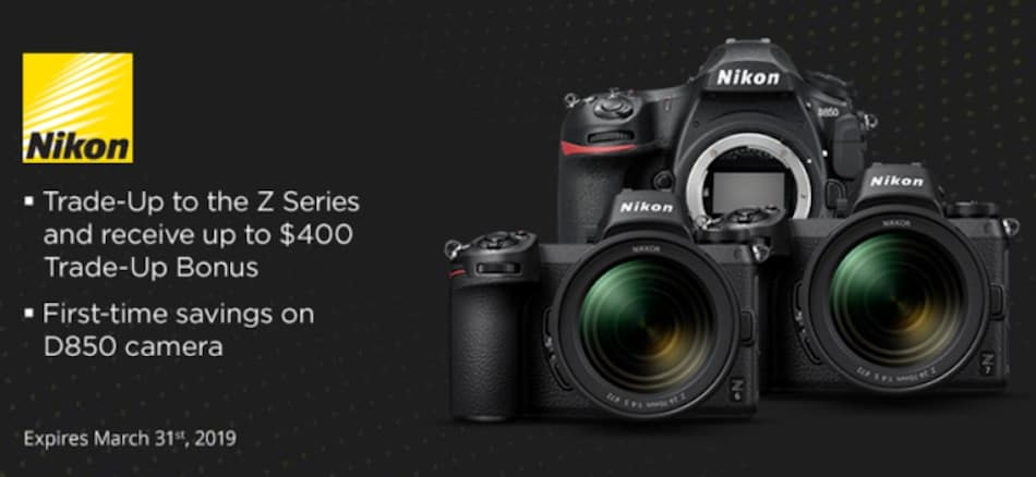"Nikon ""Trade Up to Z"" Camera Trade-In Program are now Live"