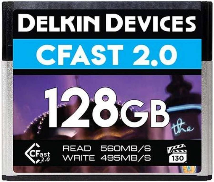 Delkin 128GB VPG-130 CFast 2.0 Memory Cards Announced, Price $220