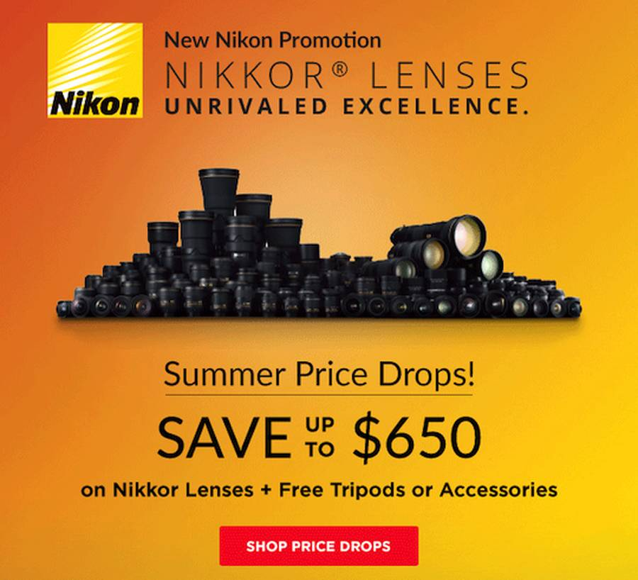 Up to $650 Off Nikon Lens-only Rebates Still Live