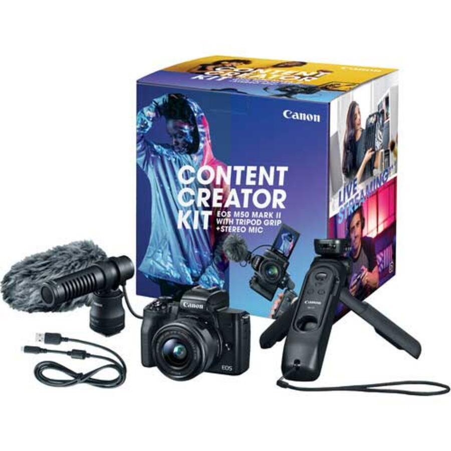 Canon EOS M50 Mark II Mirrorless Camera Content Creator Kit