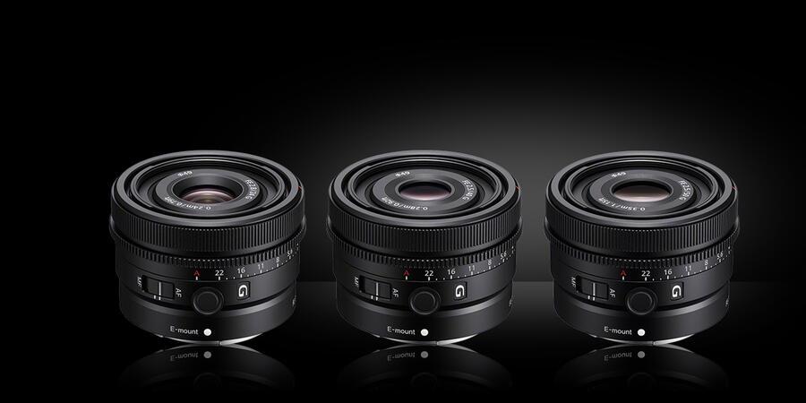 Sony FE 50mm F2.5 G, 40mm F2.5 G, and 24mm F2 .8 G Lenses Price & Availability