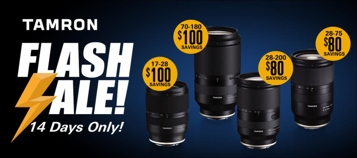Tamron Announces Up to $100 Instant Savings On Four Popular Zooms for Sony E